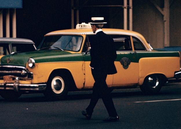 man-boater-hat-taxi-vintage-cab