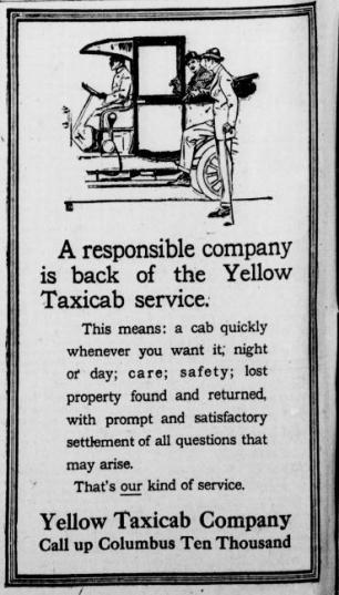 New-York-Tribune-October-20-1913-Yellow-taxi-ad